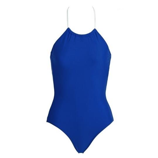 CLASSIQUE  Bleu - Maillot de bain 1 pièce post mastectomie