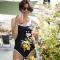 GINGER Bandeau - Maillot de bain 1P noir pour prothèse mammaire