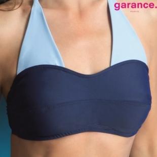JAIMIE Bandeau- Haut de maillot de bain 2P bleu marine et ciel 67ecd1ea030