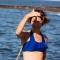 LAUREN Bandeau - Haut de maillot de bain 2P à volant pour prothèse mammaire
