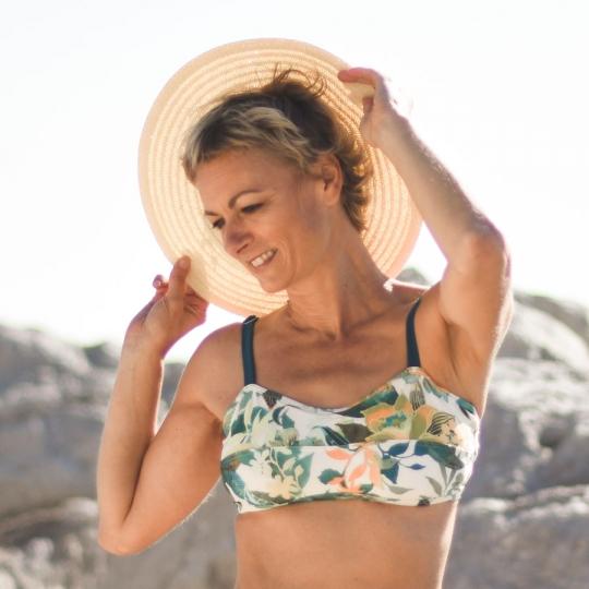 Jungle Bandeau - Haut de maillot de bain 2P pour prothèse mammaire
