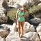 AUDREY Bandeau - Maillot de bain 1P à volant vert pour prothèse mammaire