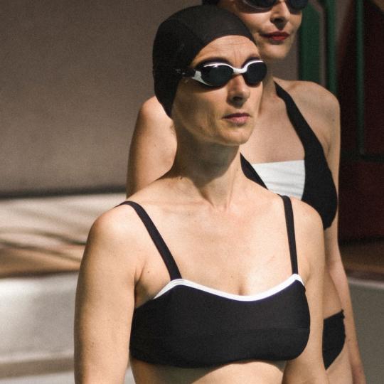 GINGER Bandeau - Haut de maillot de bain 2P pour prothèse mammaire