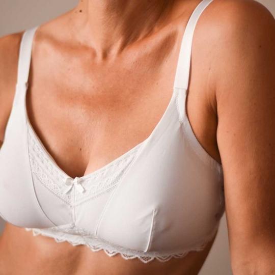 Quotidien blanc - Soutien gorge pour prothèse mammaire