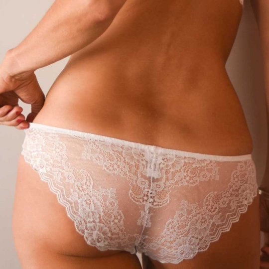 24H dentelle blanc - Slip blanc