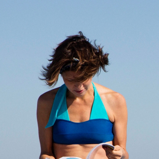 LAMU - Bandeau bikini top for breast prosthesis